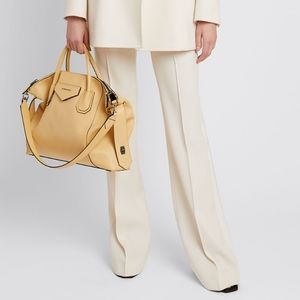 Womens Givenchy Wool Flare White Dress Pants